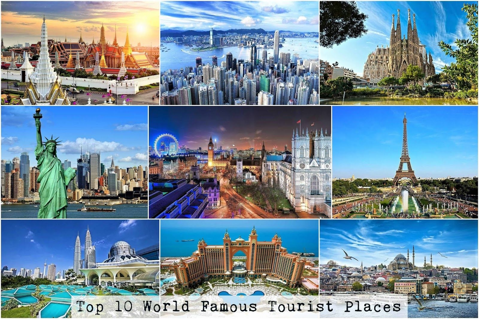 Top MUST visits in the world